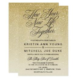 ... Elegant Gold New Years Eve Wedding Invitation