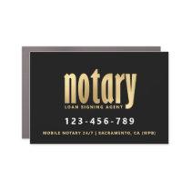 Elegant Gold Notary Loan Agent Car Magnet