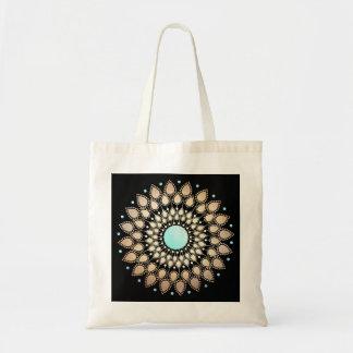 Elegant Gold Ornate Lotus Mandala Budget Tote Bag