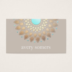 New age business cards templates zazzle elegant gold ornate lotus mandala natural health business card colourmoves