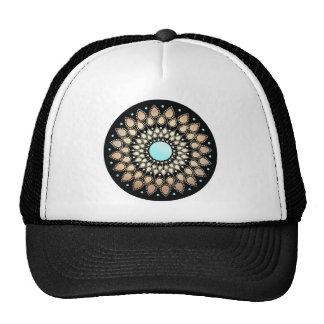 Elegant Gold Ornate Lotus Mandala Trucker Hat