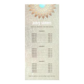 Elegant Gold Ornate Lotus Mandala Wood Price List Custom Rack Card