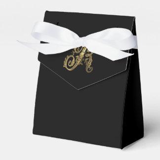 Elegant Gold Ornate Monogram R Party Favor Boxes