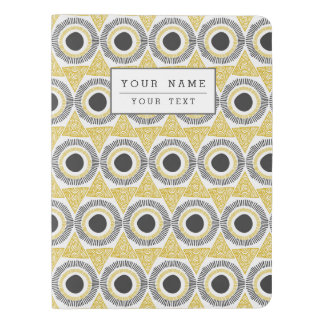 Elegant Gold Ornate Triangle & Circle Pattern Extra Large Moleskine Notebook Cover With Notebook