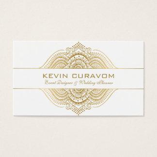Elegant Gold Paisley Ornament Business Card