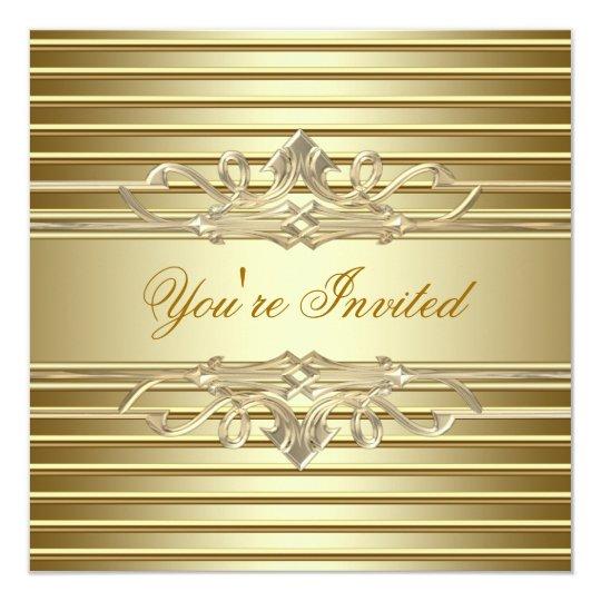 Elegant Gold Party Invitations