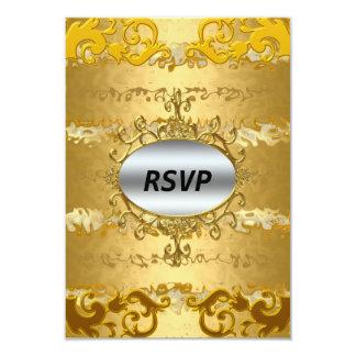 Elegant Gold Pattern RSVP Card