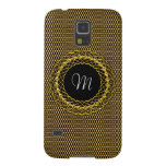 Elegant Gold Personalizable Monogram Galaxy S5 Cover
