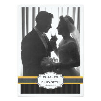 Elegant Gold Photo 50th Wedding Anniversary Party Invitation
