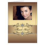 Elegant Gold Photo Thank You Cards Note Card