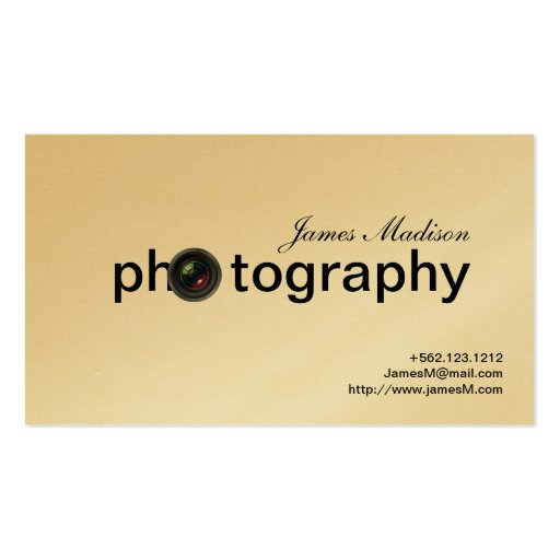 Elegant Gold Photogrpahy Business cards with QR