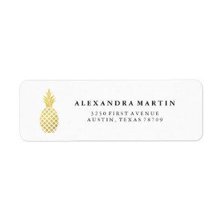 Elegant Gold Pineapple Label