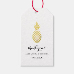 Elegant Gold Pineapple Wedding Gift Tags