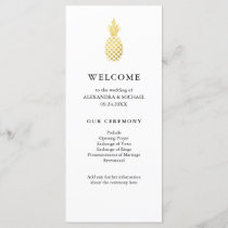 Elegant Gold Pineapple Wedding Program