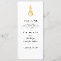 Elegant Gold Pineapple Wedding Program
