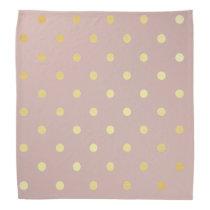 elegant gold pink polka dots bandana