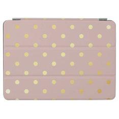 Elegant Gold Pink Polka Dots Ipad Air Cover at Zazzle