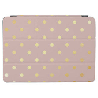 elegant gold pink polka dots iPad air cover