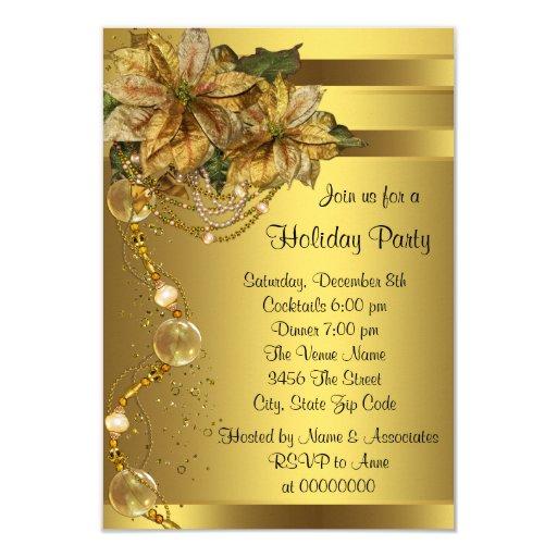 Elegant Gold Poinsettia Gold Christmas...
