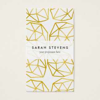 Elegant Gold Polygonal Unique Geometric Pattern Business Card