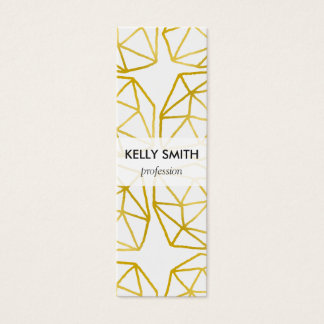 Elegant Gold Polygonal Unique Geometric Pattern Mini Business Card