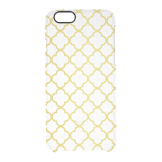 Elegant Gold Quatrefoil Pattern Transparent Uncommon Clearly™ Deflector iPhone 6 Case
