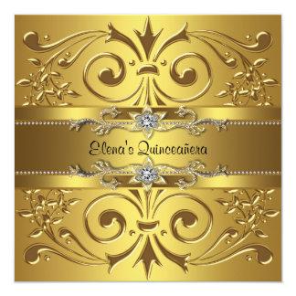 Elegant Gold Quinceanera Card