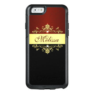 Elegant Gold Red Black OtterBox iPhone 6/6s Case