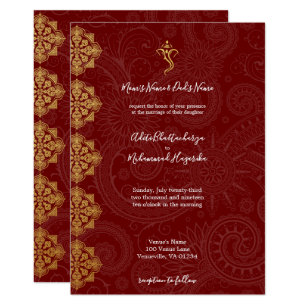 Indian Wedding Invitations Zazzle