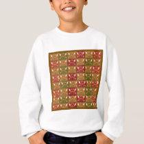 Elegant Gold Red Jewel Pattern GOODluck symbol fun Sweatshirt