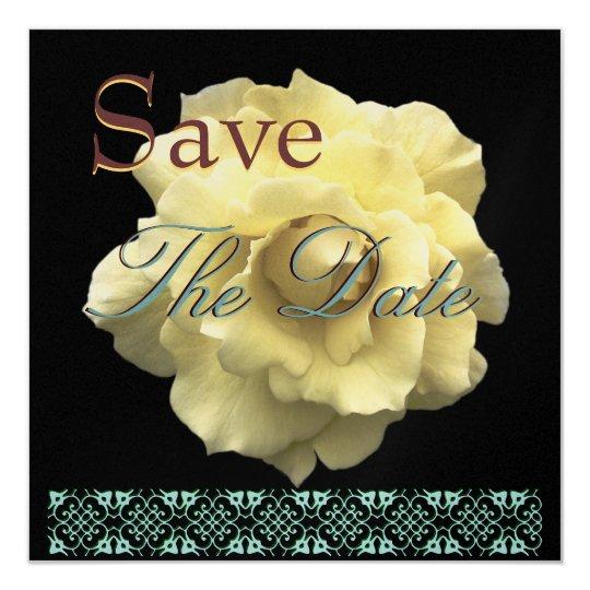 Elegant GOLD Rose Wedding Save Date Invite