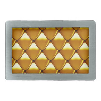 Elegant Gold Scale Pattern Belt Buckle