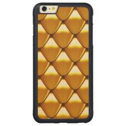 Carved iPhone 6 Plus Slim Wood Case with Pekingese Phone Cases design