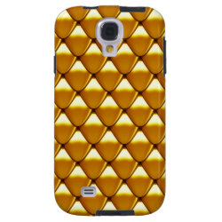 Elegant Gold Scale Pattern Galaxy S4 Case
