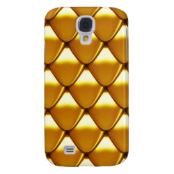 Elegant Gold Scale Pattern Galaxy S4 Cover