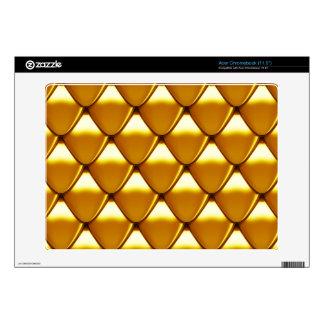 Elegant Gold Scale Pattern Skin For Acer Chromebook