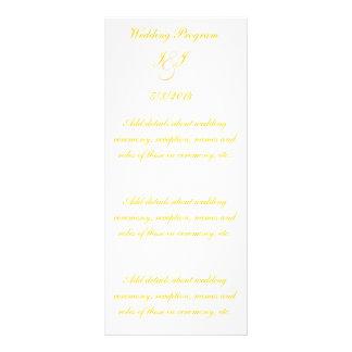 Elegant Gold Script Wedding Programs Full Color Rack Card