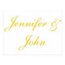 Elegant Gold Script Wedding Thank You Cards