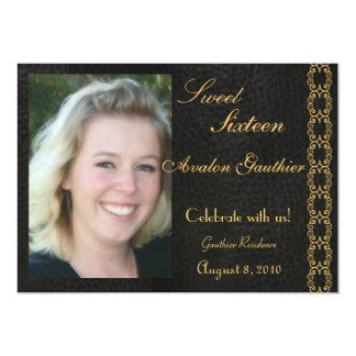Elegant Gold Scroll Photo All Occasion Invitation