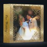 "Elegant Gold Scroll Wedding Photo Album Binder<br><div class=""desc"">Elegant Gold Scroll Wedding Photo Album Binder to personalize with your wedding photo.</div>"