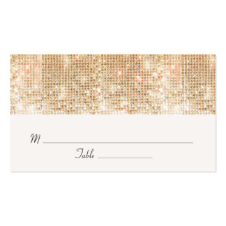 Elegant Gold Sequins  Wedding Occasion Place Card Business Card