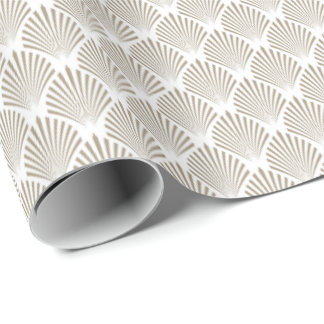 Elegant Gold Shell Pattern Wrapping Paper
