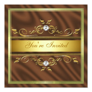 Elegant Gold Sienna Silk/Satin Invitation Template