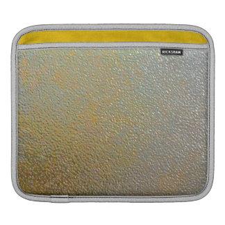 Elegant Gold Silver Stamped Metal Texture Effect iPad Sleeve