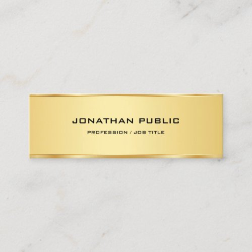 Elegant Gold Simple Professional Template Modern Mini Business Card