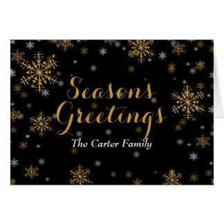 Elegant Gold Snowflake Christmas Card