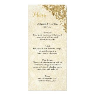 Elegant Gold Sparkle Roses Ivory Menu Cards