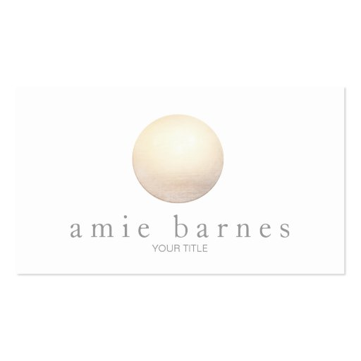 Elegant Gold Sphere Minimalist White Business Card Templates