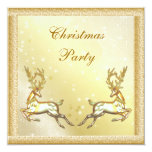 Elegant Gold Stags Classy Christmas Party Custom Announcements