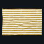 "Elegant Gold Stripe -Custom Your Color- Hand Towel<br><div class=""desc"">Design by LEMAT WORKS https://lematworks.myportfolio.com</div>"